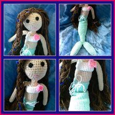 Sereia feita em crochê amigurumi. Encomenda de uma futura mamãe para decorar o quarto de sua linda bebê!