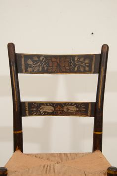 A Set Of Six American Stenciled Hitchcock Style Chairs