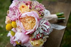 This bouquet is reminiscent of coral and seaweed.Photo Credit: Heather Fitch Photography
