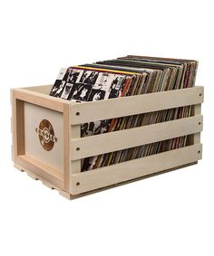 Look at this #zulilyfind! Record Storage Crate #zulilyfinds