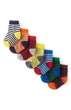 Mini Boden Stripe Socks (7-Pack) (Baby Boys) available at #Nordstrom