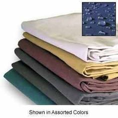 "4 Ft. x 4 Ft. Green 10 Oz. Canvas Tarp by TarpsDirect. $12.00. Our 10 oz canvas tarps have rust resistant brass grommets at corners and every 24"". These tarps are water, mildew, and rot resistant. These tarps would be great as an agricultural, industrial, or construction cover. They also work well for painters to protect floors or other items from splatters or spills. These specific canvas tarps are great because they are water resistant unlike some other canvas tarps."