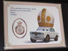 disney cars Pope-mobile!!!  I want one!