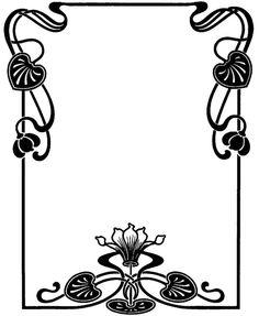 VintageFeedsacks: Free Vintage Clip Art - Vintage Art Deco and Victorian Frames Motifs Art Nouveau, Motif Art Deco, Art Nouveau Pattern, Art Nouveau Design, Art Floral, Motif Floral, Floral Design, Design Crafts, Design Art
