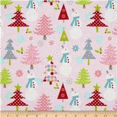 Riley Blake Christmas Basics Main Pink