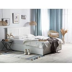 This inspired by Scandinavian forms bed perfectly blends in with virtually any decor thanks to its straight-forward design Grey Storage Bed, Wooden King Size Bed, Super King Size Bed, Superking Bed, Ottoman Bed, Wood Headboard, White Bedding, Bed Frame, Furniture