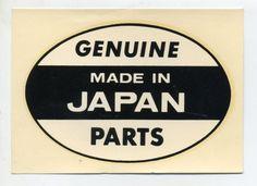 genuine japan parts decal vtg genuine hot rod drag race motorcycle novelty