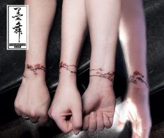 cherry blossom bracelet in chinese ink wash painting style tattoo