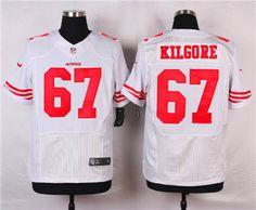 a13f45e0c Nike San Francisco 49ers  67 Daniel Kilgore White Elite Jersey 49ers  Outfit
