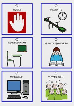 Koulumaailmaan soveltuvat kommunikaatiokortit esimerkiksi opettajan tai avustajan kaulanauhaan. Korteissa valmiiksi paikka rei-ittimelle.
