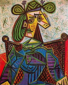 Woman sitting in an armchair, 1941  Pablo Picasso