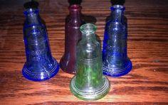 lot of 4 liberty bell miniture medicine bottles 3 wheaton and 1 tiawan