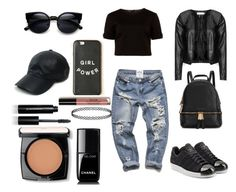 """Black is my happy color."" by thisismegiusy on Polyvore featuring moda, Bobbi Brown Cosmetics, Ted Baker, Zizzi, adidas Originals, Michael Kors, Vianel, Chanel, Lancôme e women's clothing"