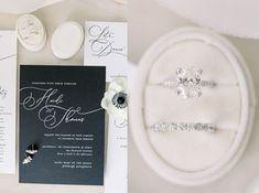 Black Tie Wedding Invitations Bridal Looks, Bridal Style, Spring Wedding, Wedding Day, Dusty Blue Weddings, Black Tie Wedding, Blue Wedding Invitations, Sweet Couple, Industrial Wedding