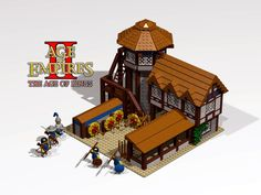 Lego Archery Range from Age of Empires 2: Age of Kings RTS game