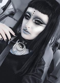 Septum Ring, Piercings, Steampunk, Hair Makeup, Halloween Face Makeup, Goth, Model, Beauty, Jewelry