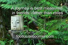 A weathered wood carving at the cabin. Weathered Wood, Wood Carving, Journey, Cabin, Outdoor Decor, Quotes, Quotations, Distressing Wood, Wood Carvings
