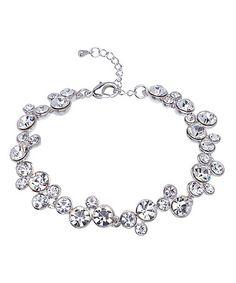 Love this Swarovski® Crystal & Rhodium Cluster Bracelet by callura on #zulily! #zulilyfinds