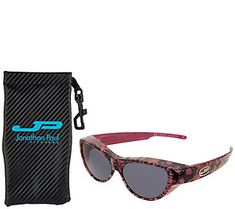 269f32c923699 Jonathan Paul Retro Cat Fitover Sunglasses with Case