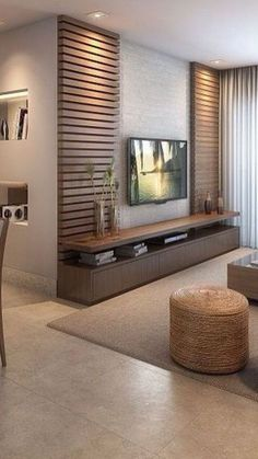 Meuble Tv Angle, Living Room Tv Unit, Living Room Decor, Living Room Designs, Be… - Home Decoraiton Cozy Family Rooms, Living Design, Tv Wall Design, Living Room Tv Unit Designs, House Interior, Living Room Tv Wall, Bedroom Design, Living Room Design Modern, Home Living Room