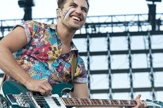 Kevin Ray from Walk the Moon wearing awesome clothing, as usual.