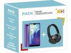 Mobile pas cher - Le Smartphone Honor 10 128 Go + un casque Bluetooth pour 379 € -    #mobilepascher #Honor10 #smartphoane #Darty #mobile Cable Audio, Smartphone, Usb, Computer Science