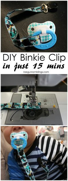 The best binkie clip cheaper and stronger than any store kind. 15 minute sewing tutorial.