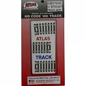 "Atlas #825 Code 100 1-1/2"" Straight Track (4 pcs./pk) $2.99"