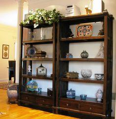Teak bookshelves are functional and gorgeous anywhere !     gadogado.com