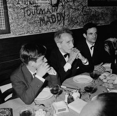 Jean-PierreLéaud, Jean Cocteau, and FrançoisTruffaut at the 1959 Cannes Film Festival. Truffaut would later win the prize for best screenplay.