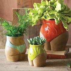 Waist Bloomers Planter - Set of 3