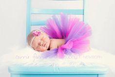 Newborn Pink and Purple tutu by wigglegiggles on Etsy, $14.00