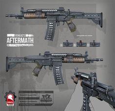 ArtStation - romero's aftermath - makeshift assault rifle, Kris Thaler