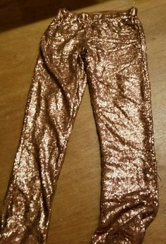Pink rose sequin lined leggings. Several for sale.
