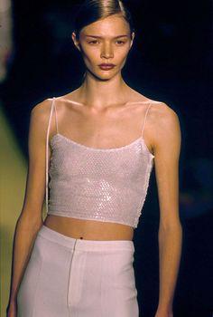 Jodie Kidd on  New York fashion catwalk 1997