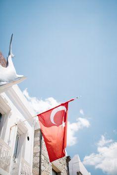 Turkish Flag in Bodrum Turkey | photography by http://www.elisabettamarzetti.com/