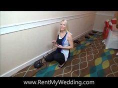 WEDDING UPLIGHTING TUTORIAL - how to set up wedding uplighting in a banquet hall from start to finish. #uplighting #rentmywedding