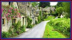 Cotswold village, leading to England's Stonehenge