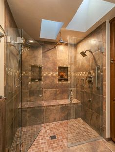 Badgestaltung Explore this luxurious expensive spa like Master Bathroom Retreat with its HUGE double Shower Remodel, Bath Remodel, Dream Bathrooms, Beautiful Bathrooms, Luxury Bathrooms, Tile Bathrooms, Master Bathrooms, Bathroom Mold, Small Bathrooms