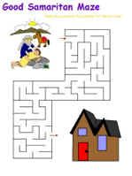 FREEBIE * This page has all sorts of printable puzzles relating to The Good Samaritan story