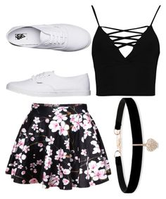 """""""vans"""" by tiffany-duque on Polyvore featuring WithChic, Boohoo, Vans and Betsey Johnson"""