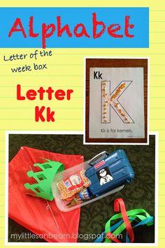 My Little Sonbeam: January Week 1: Alphabet {Letter Kk}