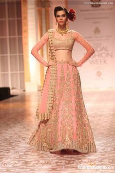 Lengha by Falguni & Shane Peacock at AVIBFW 2013