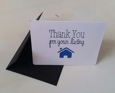 Thank You for Your Listing Real Estate greeting cards - Set of 5 cards for by DTPaperProducts