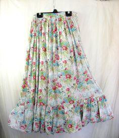 BohoHippie Floral Gauzy Springtime Midi Skirt by rosiemoonbeams, $34.00