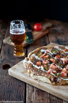 Beer Carnitas Pizza - The Beeroness Paleo Recipes Easy, Beer Recipes, Tart Recipes, Fish Recipes, Mexican Food Recipes, Pizza Recipes, Beyond Meat Chicken, Cooking With Beer, Carnitas