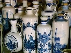 oude jeneverkuiken uit Schiedam / old genever jars from Schiedam - Windmolen Korenlust -  windmill - Stellendam by Stil Licht, via Flickr