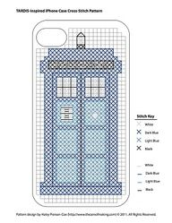 "Tardis Cross Stitch iPhone Cover (2)"" data-componentType=""MODAL_PIN"