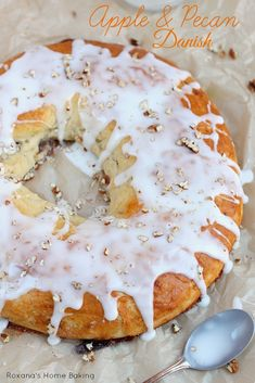 Soft, buttery and rich danish pastry filled with cinnamon apples and pecans