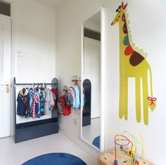 Dressing up area in little boys bedroom for episode 3 of The Design Doctors Dress Up Area, Handmade Soft Toys, Modern Kids, Mural Painting, Awesome Bedrooms, Episode 3, Room Themes, Little Boys, More Fun
